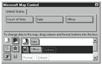 Figure 3-29. The Microsoft Map Control box after selecting two formats.