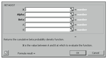 Figure 4-1. The Paste Function dialog box.