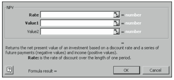 Figure 5-2. The second Paste Function dialog box.