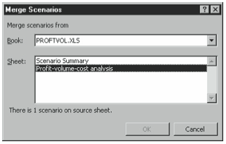 Figure 6-13. The Merge Scenarios dialog box.