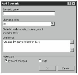 Figure 6-8. The Add Scenario dialog box.