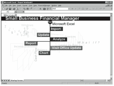 Figure 9-3. The Small Business Financial Manager Startup screen.