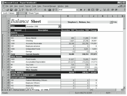Figure 9-5. An example financial report created by the first Report Wizard.